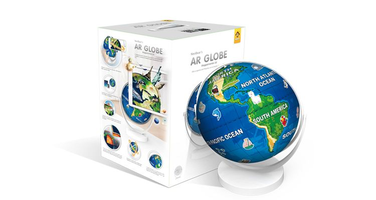 AR globe Augmented Reality in education
